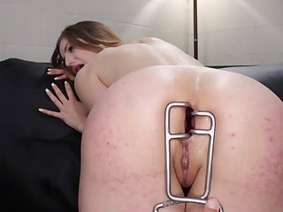 Merciless anal for the naked whores in total lezdom action