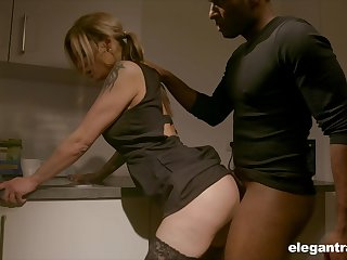 Pale nympho with accurate ass Klarissa is properly analfucked by black gleam