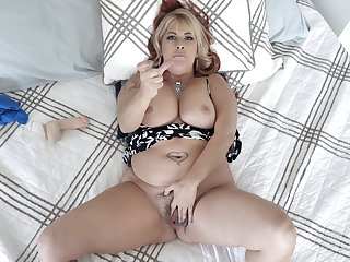 Heavy midget MILF in crazy POV digs scenes of real porn