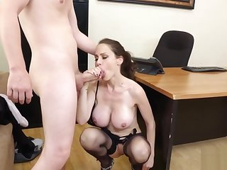 Office MILF Sofia has a pursuit for her additional