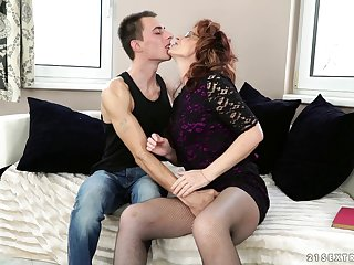 Nasty younger guy loves shagging his mature neighbor Mayna May