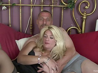 Sizzling mature couple make their first homemade video