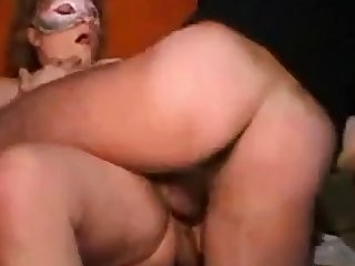 Mature Italian girl's threesome