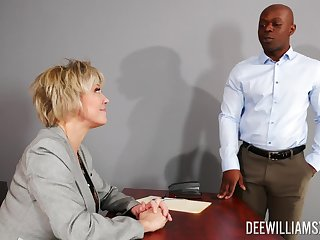 Take charge grown-up rides the unconscious of black dong at hand smashing office XXX
