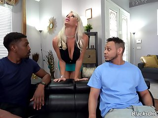 Hardcore interracial anal trilogy with regard to dirty MILF London River