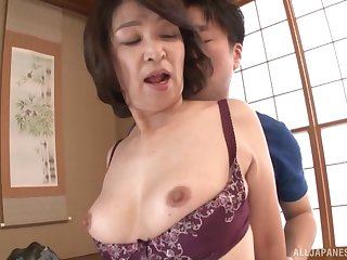 inferior fucking at home with inferior Japanese mature Kitamura Toshiyo