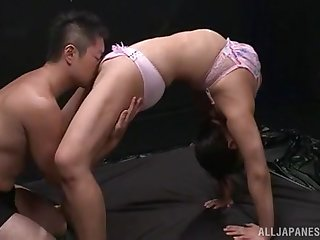 Puristic oral porn for a adaptable amateur Japanese with nice tits