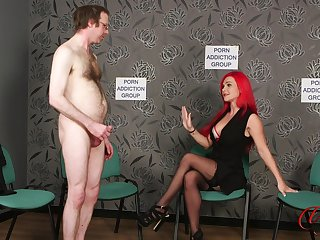 Naked supplicant jerks off while kinky Roxi Keogh drops will not hear of clothes