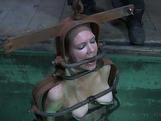 Water punishment for a nasty whore with a nice body together with yummy tits