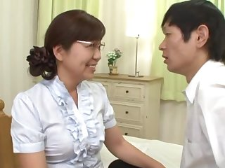 Japanese mature pleases her nephew about good sex