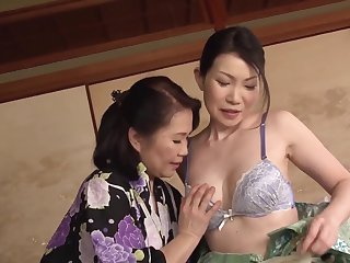Rattled Japanese matures are set back share lesbian moments on cam