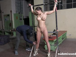 Slave girl endures the resemble hallucinogenic in plain BDSM