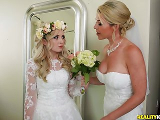 A wedding day amble to a blowjob with an increment of hard fuck for horny Lexi Lore