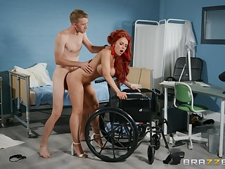 Redhead feels titanic cock working her pussy in insane modes