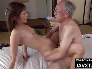 Exciting Asian Young Babe Had Sex by Grandpa - old and 18yo schoolgirl