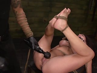 Throating female slave treated by her master about do violence to