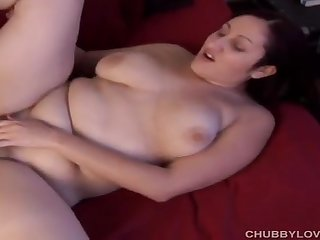 Big cock for hairy pussy of chubby MILF Sara Jay