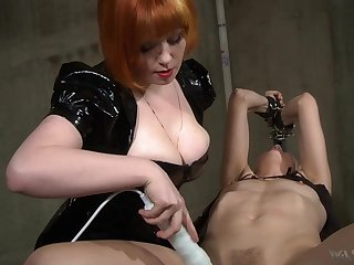 Hot bit of crumpet uses will not hear of boobs to get herself slaves and she loves electro play